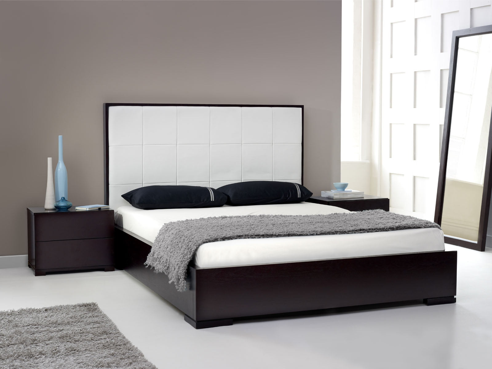 Modern bedroom furniture dublin - Bespoke Black Bed