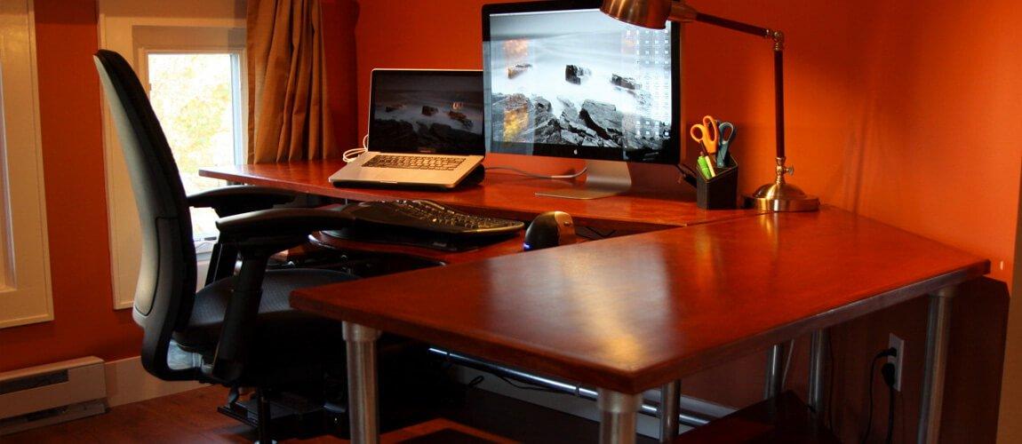 Custom Computer Desk Bespoke Workstation Designed And Ed