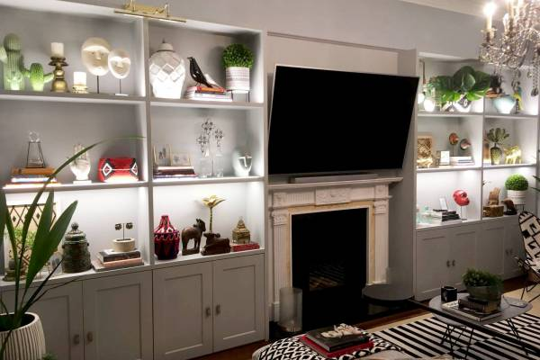 TV furniture with lighting