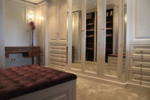built in wardrobes with glass doors