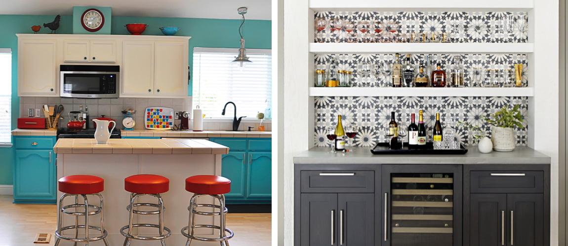 maximalist style kitchen