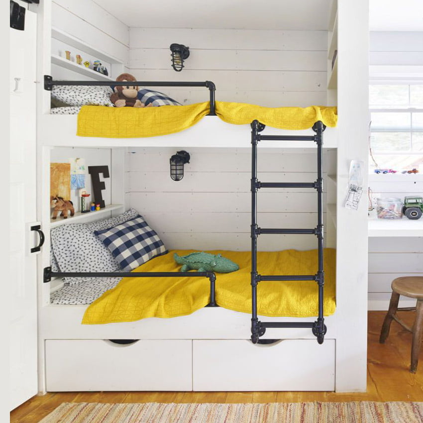 Bunk Bed with Steel Ladder