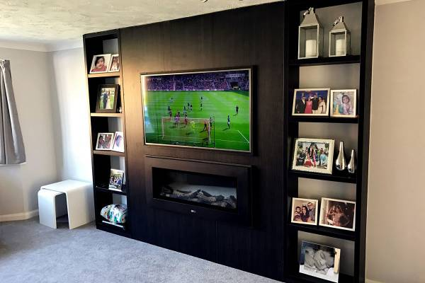 Solid Wood TV Stands with Storage