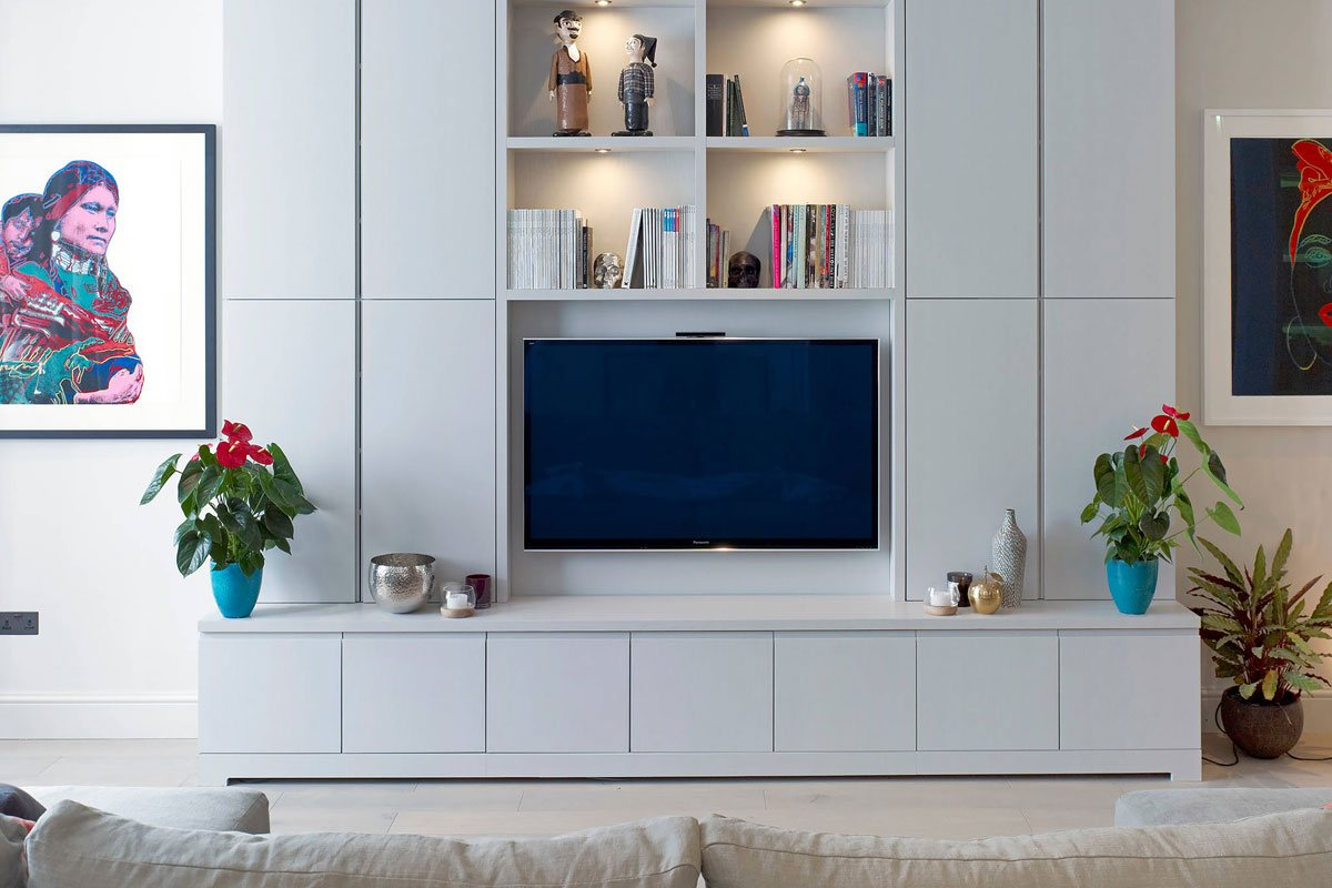 Awesome Simple White Tv Unit Home Interior And Landscaping Ponolsignezvosmurscom