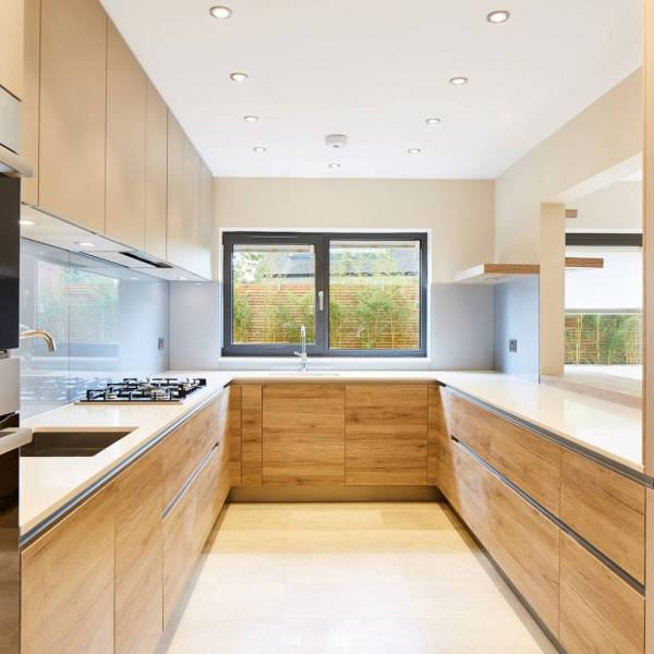 Veneer Wood Kitchen Cabinets