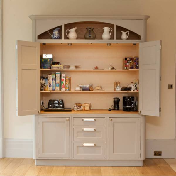 rounded freestanding kitchen unit