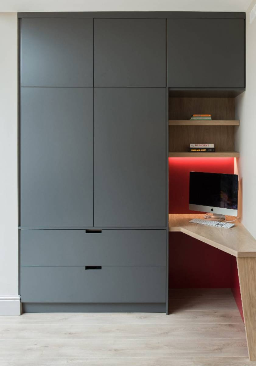 fitted desk for working from home