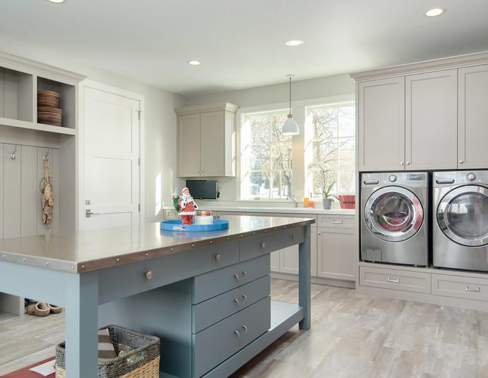 grey utility room